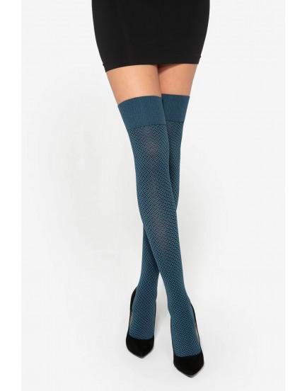 Ilgos kojinės Gatta Sassimi 01 mėlynos 50 denų.