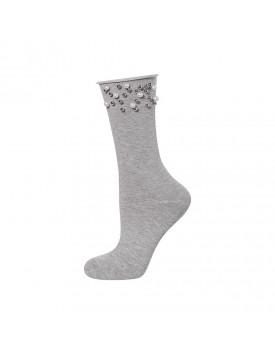 Medvilninės kojinaitės su perliukais